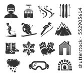ski resort sports icons. winter ... | Shutterstock .eps vector #552905614