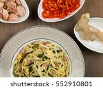 bami goreng indonesian style... | Shutterstock . vector #552910801