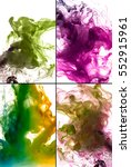 colorful ink in water | Shutterstock . vector #552915961