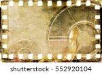 vintage sepia film strip frame... | Shutterstock . vector #552920104