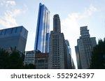 skyscrapers in chicago. high... | Shutterstock . vector #552924397