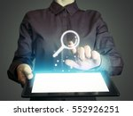 image of a girl with tablet in... | Shutterstock . vector #552926251