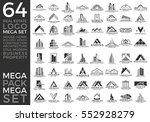 mega set and big group  real... | Shutterstock .eps vector #552928279