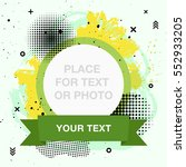 hand drawn trendy frame with... | Shutterstock .eps vector #552933205