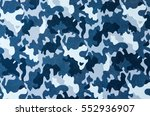 blue camouflage pattern leather ... | Shutterstock . vector #552936907