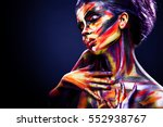 portrait of the bright... | Shutterstock . vector #552938767