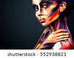 portrait of the bright... | Shutterstock . vector #552938821