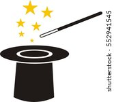 the magic wand and hat icon | Shutterstock .eps vector #552941545