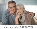 portrait of senior couple... | Shutterstock . vector #552942094
