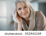 portrait of beautiful senior... | Shutterstock . vector #552942109