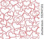 romantic doodle heart... | Shutterstock .eps vector #552947101