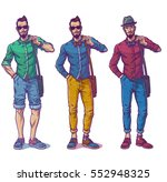 set vector illustrations of a... | Shutterstock .eps vector #552948325