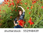 Beautiful Girl On The Poppy...