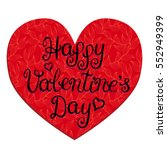 happy valentines day card with... | Shutterstock .eps vector #552949399