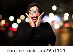 young french artist surprised | Shutterstock . vector #552951151