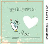 valentine's day card doodle... | Shutterstock .eps vector #552951424