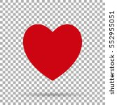 heart red icon on background... | Shutterstock .eps vector #552955051