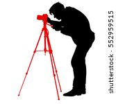 cameraman with video camera.... | Shutterstock .eps vector #552959515