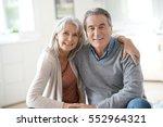 portrait of senior couple... | Shutterstock . vector #552964321