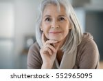 portrait of beautiful senior... | Shutterstock . vector #552965095
