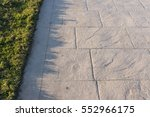 stamped concrete pavement slate ... | Shutterstock . vector #552966175