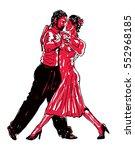 sketched dancers  | Shutterstock .eps vector #552968185