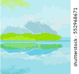 landscape with mountains | Shutterstock . vector #552968671