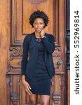 african american businesswoman... | Shutterstock . vector #552969814
