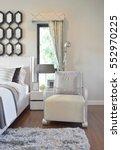 modern bedroom interior with... | Shutterstock . vector #552970225