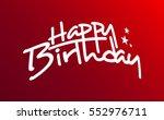 happy birthday vector hand... | Shutterstock .eps vector #552976711