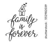 vector calligraphy. family is... | Shutterstock .eps vector #552982039