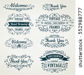 hand drawing vintage flourishes ... | Shutterstock .eps vector #552988777