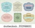 hand drawing vintage flourishes ... | Shutterstock .eps vector #552988831