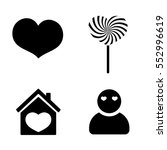 set icons  valentines day  flat ...