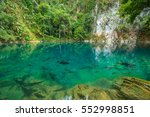 lom phu kiew pond is located in ...   Shutterstock . vector #552998851