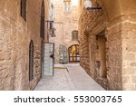 ancient stone streets in arabic ... | Shutterstock . vector #553003765