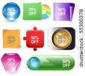 50  off. vector internet...   Shutterstock .eps vector #55300378