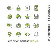 vector simple icon logo set for ...