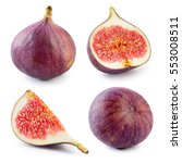 Fresh Fig. Fruit With Half And...