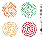 abstract flowers set vector | Shutterstock .eps vector #553009585