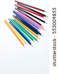 color pencils isolated on white ... | Shutterstock . vector #553009855