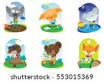 cartoon character of baby... | Shutterstock . vector #553015369