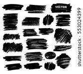 vector set of grunge brush...   Shutterstock .eps vector #553024399
