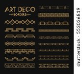 Set Of Art Deco Patterns And...