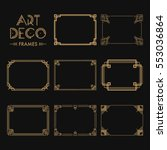 Set Of Art Deco Borders And...
