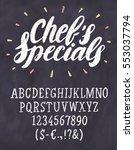 chef's specials. chalkboard... | Shutterstock .eps vector #553037794