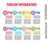 infographic business vector... | Shutterstock .eps vector #553039045