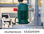 electric motor pump with... | Shutterstock . vector #553039399