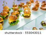 beautifully decorated catering... | Shutterstock . vector #553043011