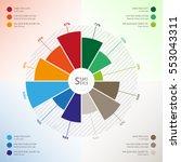 template of modern circle... | Shutterstock .eps vector #553043311